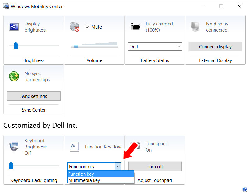 Change Function key behavior in Dell Inspiron 15 laptops - Tommy Lee